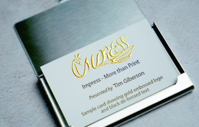 embossed business card printing Singapore